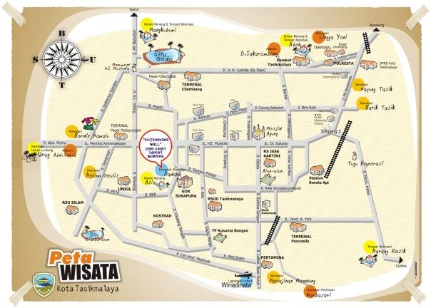 Peta wisata kota tasikmalaya 2